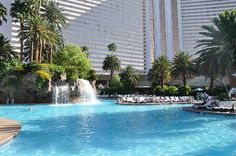 The swimming pool at the Mirage Hotel in Las Vegas!