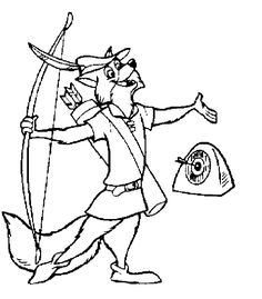 Robin Hood Printable Coloring Pages - Disney Kids Games ...