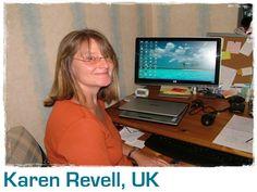 Karen's desk at home