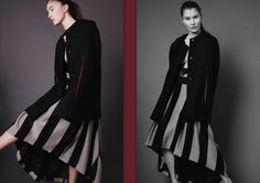 wool cloak  fashion and skirt  Atelier Kappe by Gabriela Hezner  designer  fot. Kamila Limanowicz  ECManagement
