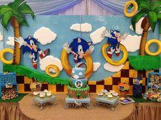 Sonic the Hedgehog Birthday Party Ideas Sonic Birthday Parties, Sonic Party, 4th Birthday, Birthday Party Themes, Sonic Cake, Simple Birthday Decorations, Hedgehog Birthday, Sonic The Hedgehog, Party Ideas