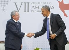 In historic face to face, Obama, Castro vow to turn the page - Yahoo News