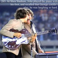 source: Anthology I've seen John play with his elbows, but he said in a direct quote feet so I used that :) Beatles Meme, Foto Beatles, The Beatles Live, Les Beatles, Beatles Photos, John Lennon Beatles, Beatles Trivia, Beatles Poster, Julian Lennon