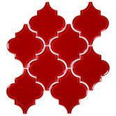 Giorbello Arabesque Glass Tile Mosaic in color Ruby Red A true, red, burgundy tone glass tiles. A WaterJet glass mosaic tile backsplash. Glass Mosaic Tile Backsplash, Glass Pool Tile, Mosaic Glass, Wall Tiles, Backsplash Ideas, Kitchen Backsplash, Kitchen Cabinets, Kitchen Table Redo, Kitchen Ideas