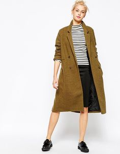 Olive color coat #whattowear #trend #fashion