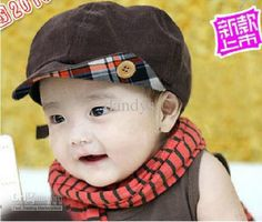 Hmm good for fall? Newboy cap end turned up with pattern and Button. NEW baby kids boys's boy caps hats toddler girls cap hat Sun hat cap beret coffee,10pcs/lot,dandys