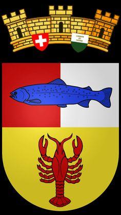Nouveau blason de la commune de Cudrefin. District Broye-Vully. Les communes de Champmartin et de Cudrefin, ont accepté leur fusion au sein de cette nouvelle commune qui a vu le jour le 1er janvier 2002.