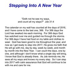 Stepping Into A New Year devotions.homestead.com