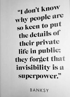 Invisibility is a superpower