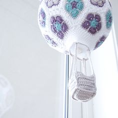 Crochet African Flower Hot Air Balloon