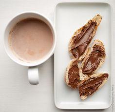 milo and nutella on toast