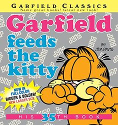 Garfield Feeds the Kitty: His 35th Book:   <b>Hungry for Laughs?</b><br> <br> Garfield, the fat cat with the bottomless stomach, dishes up another tasty serving of cartoon comedy. So whether he's celebrating the official Kick-Odie-Across-the-Room Day, playing connect-the-freckles on Jon's chest, or perfecting his insincere smile, Garfield's always on the prowl for food—and fun!<br><br>The GARFIELD CLASSICS series collects the early years of the Garfield comic strip in a larger, full-c...