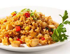 Arroz con pollo y chuleta - Recetas