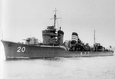 A Japanese 'Fubuki' class destroyer.
