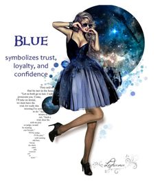 """Blue"" by ledianaaaaa ❤ liked on Polyvore featuring art"