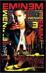 Eminem Black Light Poster - Get lost in your favorite lyrics while enjoying the ultraviolet rays bouncing off this vibrant 23 X 35 Eminem Black Light Poster.