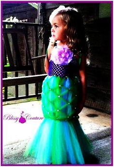Little Mermaid Tutu Halloween Costume Pageant Dress