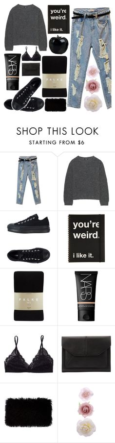"""i'll stay awake for you"" by forevah-lit ❤ liked on Polyvore featuring Uniqlo, Converse, Falke, NARS Cosmetics, Talula, John Lewis, Donna Karan and Accessorize"
