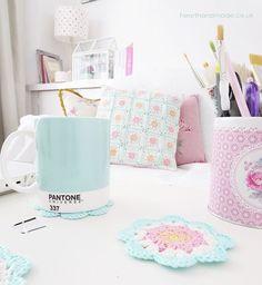 Mint pantone mug Bright & Colourful Free Crochet Patterns