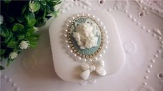Vintage Cute Lucky Cat White Bow Pearl Bling by EverMagic on Etsy, $13.90