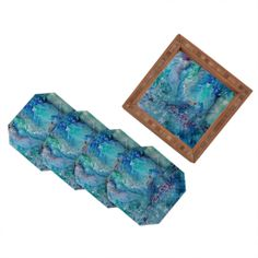 Rosie Brown Diver Paradise Coaster Set | DENY Designs Home Accessories #art #abstract #coaster #set #homedecor #denyholiday #denydesigns #cybermonday #beverage