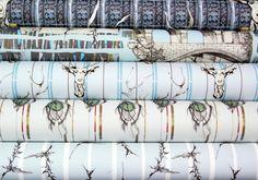 Bespoke wallpaper, coated non-woven,180gsm. 52cm width x 250cm rolls