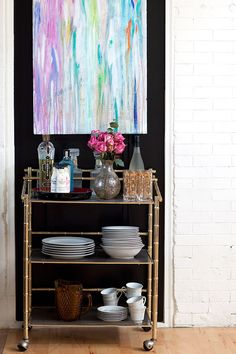 Now we're seeing a resurgence of the bar cart, and I for one could not be more thrilled! What a fantastically fun way to dress up a nook of your home, while making guests feel festive all the same.