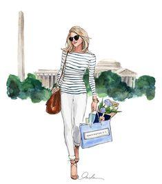 """The perfect Saturday errand look sketched for @tsgwashingtondc"""