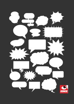 Balloon Chat Vector _ open this web to get more vectors Free Vector Graphics, Free Vector Art, Comic Bubble, Speech Balloon, Doodle Frames, Butterfly Template, Vinyl Paper, Doodle Designs, Design Elements