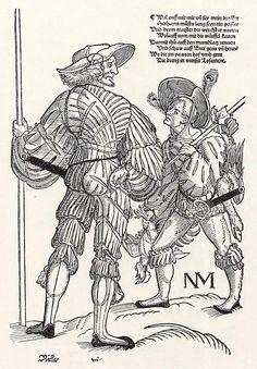Landsknecht mit Bube (um 1535)