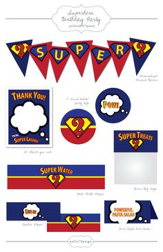 DIY Printable Super Hero Birthday Party