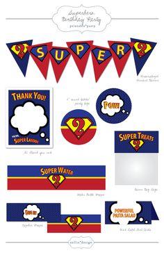 DIY Printable Super Hero Birthday Party