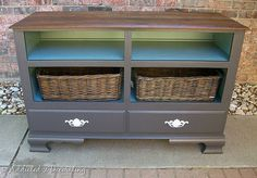 repurpose old dresser. This would be great in an entry as a catch all for gloves and hats, keys, bags, etc. I may have to look for an old dresser this summer at a garage sale.