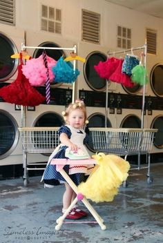 Fun Photo Session Ideas / Dress Up / Props / Baby / Child Photography / Prop Ideas / Laundry