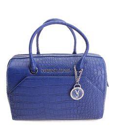 Loving this Navy Croc-Embossed Satchel on #zulily! #zulilyfinds