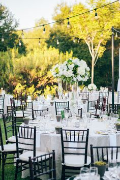 Elegant Garden-Inspired Reception | Full Spectrum Photography | TheKnot.com