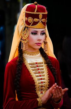 National Costume of the Caucusus, a geopolitical region at the border of Europe and Asia, situated between the Black and the Caspian Seas. #Luxury #Travel Gateway VIPsAccess.com