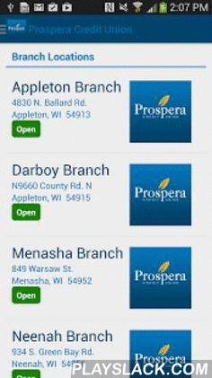 Prospera Credit Union Mobile  Android App - playslack.com ,  The Prospera Credit Union free mobile app makes it easier than ever to manage your accounts conveniently and securely from your phone or tablet. Available 24/7, you can view account balances, transfer funds, deposit checks, pay bills, view rates, find locations, submit loan and mortgage applications, find an ATM, access loan calculators, and more!