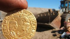 Treasure-filled Portuguese shipwreck found in desert coastline of Namibia.  The ship was laden with tons of copper ingots, elephant tusks, gold coins — and cannons to fend off pirates lurking off Africa some five centuries ago.   Treasure-filled Portuguese shipwreck found in desert coastline of Namibia A mint gold coin found among the Namibia shipwreck [Credit: Diter Noli]