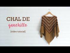Crochet: Poncho con Capucha.  El Cuerpo - YouTube