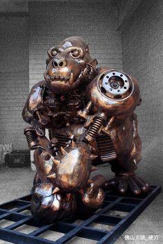 Steampunk Gorilla Statue