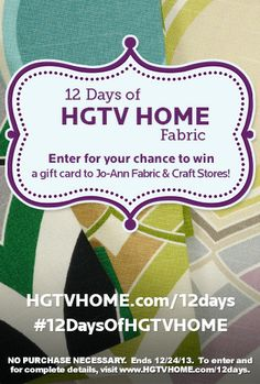 Enter your own board for a chance to win! #12DaysOfHGTVHOME