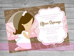 Girl First Communion Digital Invitation- #0079