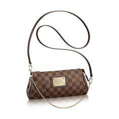 Eva Clutch Luxury Louis Vuitton Damier Ebène Canvas Handbag   LOUIS VUITTON  Chemises Louis Vuitton, 54024db67e1