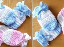 adorable crocheted baby mitts   the crochet space