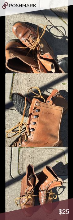 Red Wing Hiking Boots Real Leather Hiking Boots in like brand-new condition sized Kids 3 wide.  I wear woman's 4, so work for boy, girl or adult woman's 4.  Nicely worn in, but still so good.  Why spend $150 for a growing child.... Red Wing Shoes Shoes Combat & Moto Boots