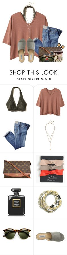 """Fri-nally Friday"" by flroasburn ❤ liked on Polyvore featuring Hollister Co., Alexander Yamaguchi, BaubleBar, Louis Vuitton, J.Crew, Chanel, Michael Kors, Steve Madden and Tory Burch"