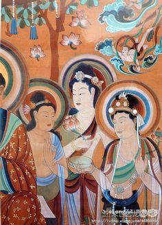 多图,细品敦煌壁画(xp四)-艺龙旅游社区 Jiang Shi, Dunhuang, Ancient China, Deities, Spirituality, Tours, Culture, Illustrations, Artists
