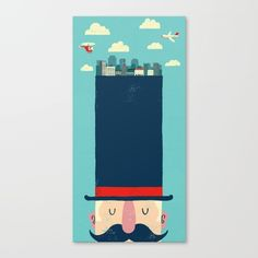 City Gent Canvas Print by Monster Riot | Society6