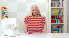Step-by-Step: How to Sew a T-Shirt www.danamadeit.com. Been a fan for a long time. Love these new videos!